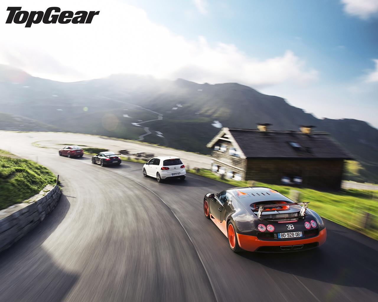 download picture at 1024x1280 - Bugatti Veyron Super Sport Top Gear Wallpaper